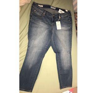 Torrid ankle length skinny jeans